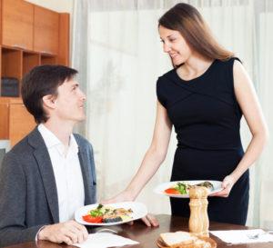романтический ужин дома